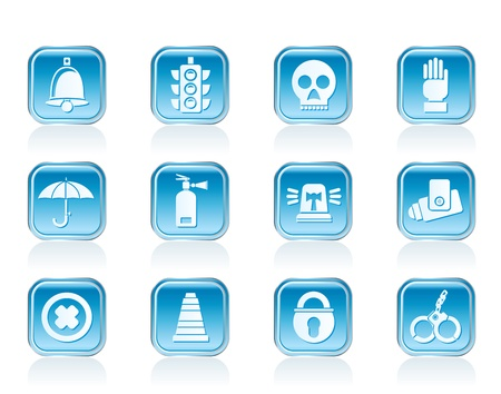 Surveillance and Security Icons - vector icon set Illustration