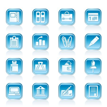 Business, Office and Finance Icons - Vector Icon Set Stock Vector - 13006901