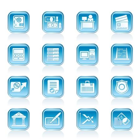 銀行、ビジネス、金融、office アイコン - ベクトル アイコンを設定