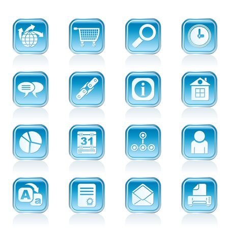 Web Site, Internet and computer Icons - vector icon set Stock Vector - 13006900