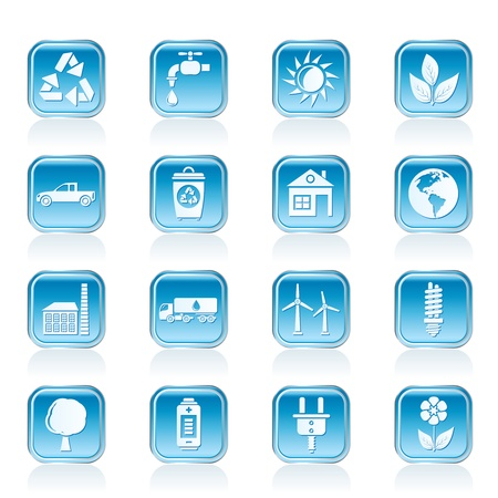 ecology and environment icons - vector icon set Vector