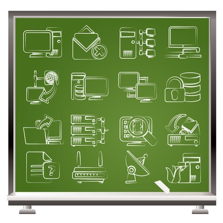 Computer Network and internet icons - vector icon set Vector