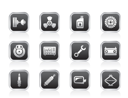 car icon: Car Parts and Services icons