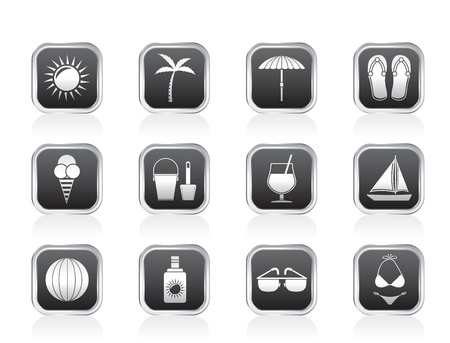 Summer, Holiday and beach objects  Vector