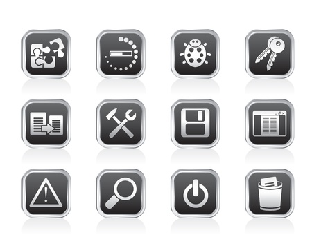 developer, programming and application icons Vector