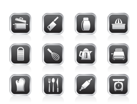 stew pot: Kitchen and household Utensil Icons