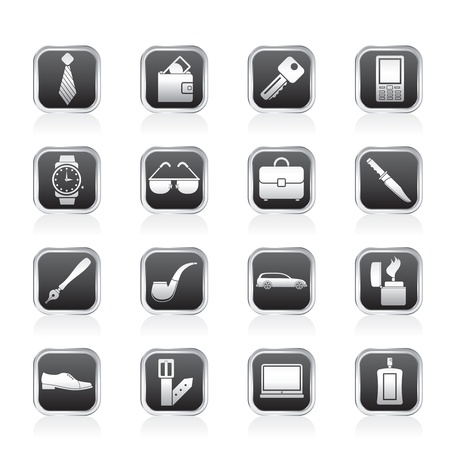lighter: man accessories icons and objects