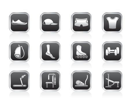 sports equipment and objects icons - vector icon set 1 Stock Vector - 13099145