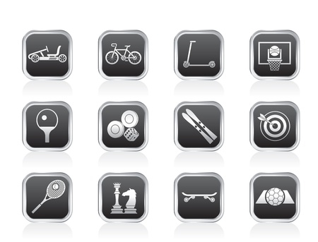 sports equipment and objects icons  Vector