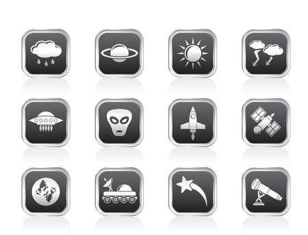 Astronautics and Space and univerce Icons Stock Vector - 13099177