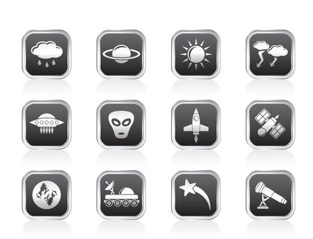 astronautics: Astronautics and Space and univerce Icons