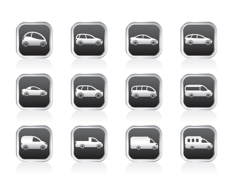 classic cars: different types of cars icons