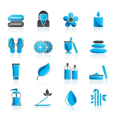 Spa objects icons Stock Vector - 13099236