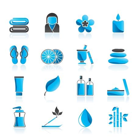 Spa voorwerpen iconen Vector Illustratie
