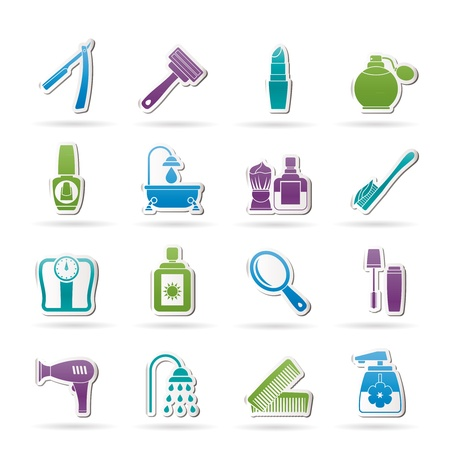 body care and cosmetics icons Stock Vector - 13099232
