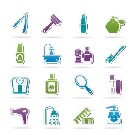 rasoir: soins du corps et cosm�tiques ic�nes Illustration