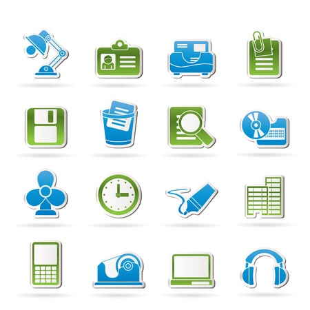 clop: Office and business icons  Illustration