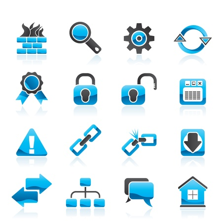 Internet and web site icons  Stock Vector - 13099227