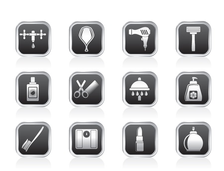 Personal care and cosmetics  icons - vector icon set Stock Vector - 13183344