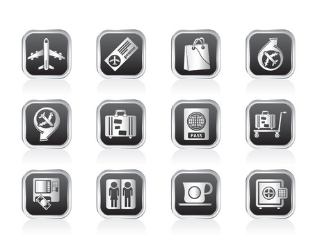 airport, travel and transportation icons 1 - vector icon set Vector