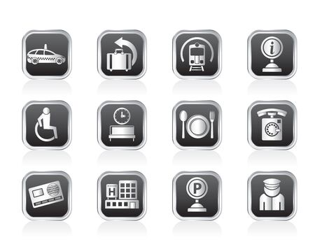 airport, travel and transportation icons 2 - vector icon set Vector