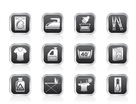 lejia: Lavadora y lavander�a iconos - ilustraci�n vectorial