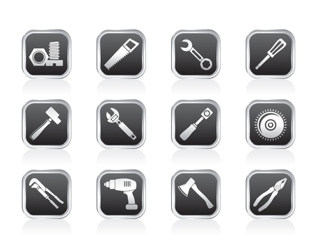 handsaw: different kind of tools icons - vector icon set