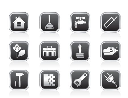 power tool: construction and do it yourself icons - vector icon set