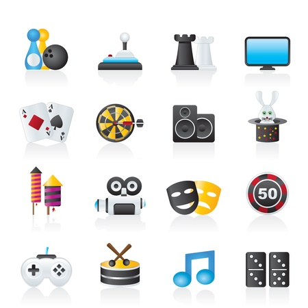 entertainment objects icons - vector icon set Stock Vector - 13183398
