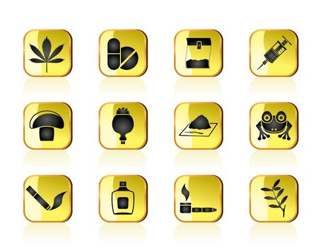 opium: Different kind of drug icons