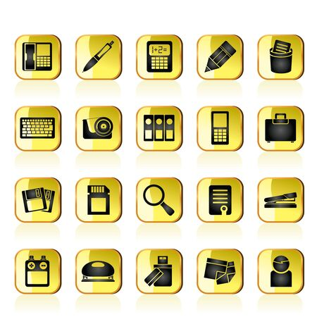 Office tools Icons  Stock Vector - 13295678