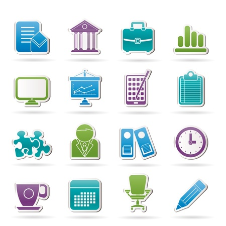 Business and office icons icon set Vector