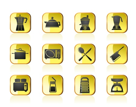kitchen and household equipment icon - vector icon set Stock Vector - 13387565
