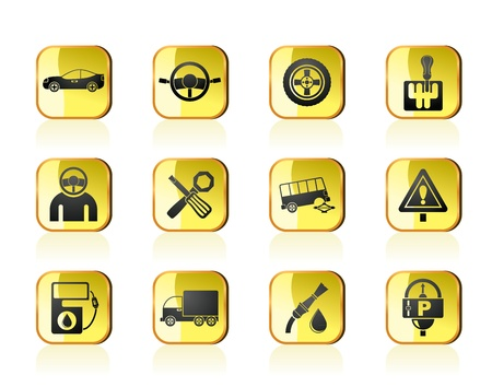 car services and transportation icons - vector icon set Stock Vector - 13387720