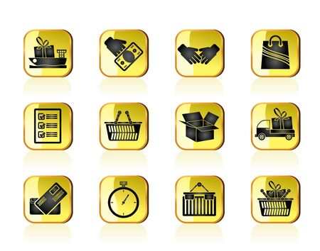 Shipping and logistic icons - vector icon set Stock Vector - 13387718