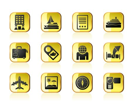 Travel, vacation and holidays icon - vector icon set Vector