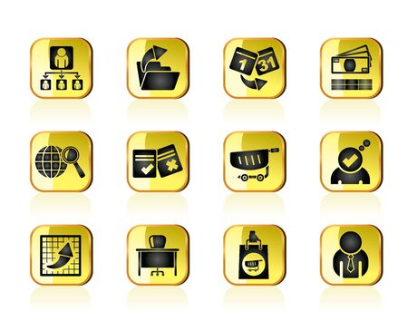 Business,  Management and office icons - vector icon set Stock Vector - 13387569