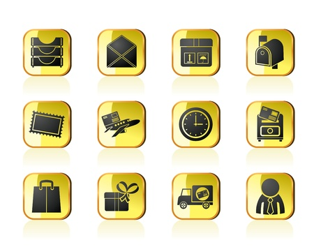 Post, correspondence and Office Icons - vector icon set Stock Vector - 13387725