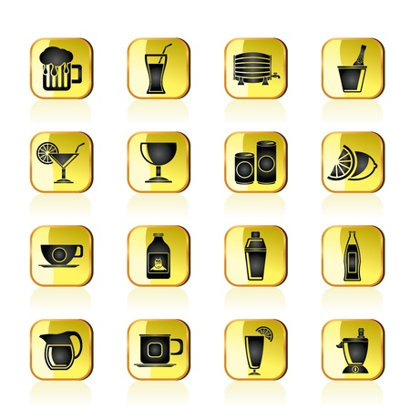 beverages and drink icons - vector  icon set Vector