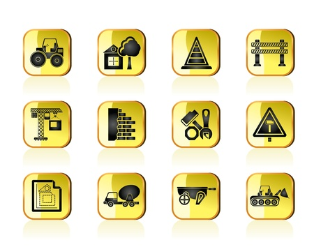 Construction and building Icons - vector icon set Vector