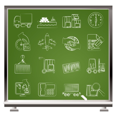 shipping and logistics icons - vector icon set Stock Vector - 13387756