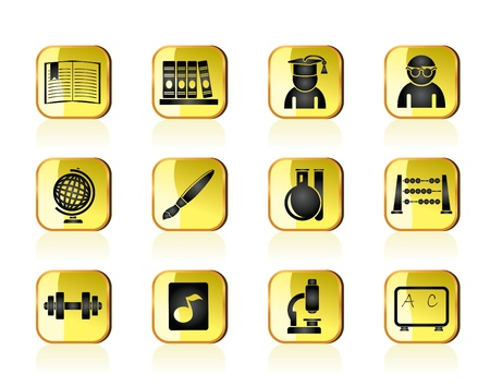 microscopy: school and education icons - vector icon set