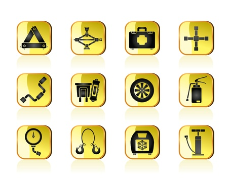 car and transportation equipment icons - vector icon set Stock Vector - 13511001