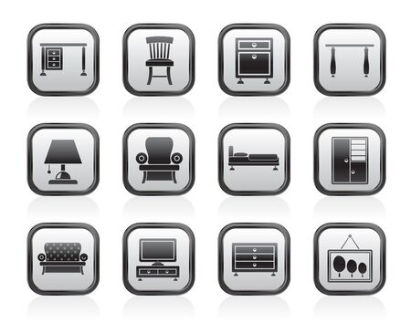 Home Equipment and Furniture icons - vector icon set Stock Vector - 13511000