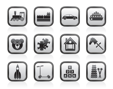 passanger: Different Kinds of Toys Icons - Vector Icon Set