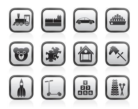 Verschiedene Arten von Spielzeug Icons - Vector Icon Set