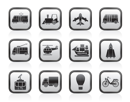 the land of menu: Travel and transportation icons - vector icon set