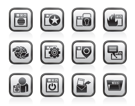 Internet, website and  Security Icons - vector icon set Stock Vector - 13510999