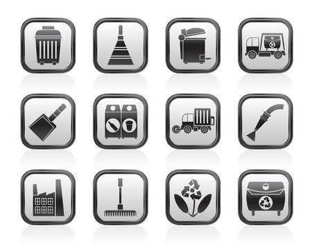 Cleaning Industry and environment Icons - vector icon set Vector