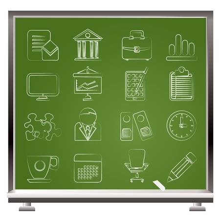 Business and office icons - vector icon set Stock Vector - 13511030